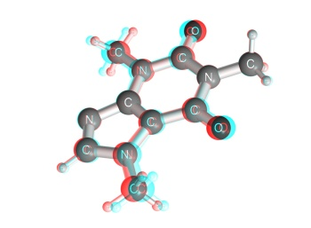 gambar Struktur kimia kafein